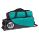 Teal Circuit Triple Tote with Pouch three quarter view