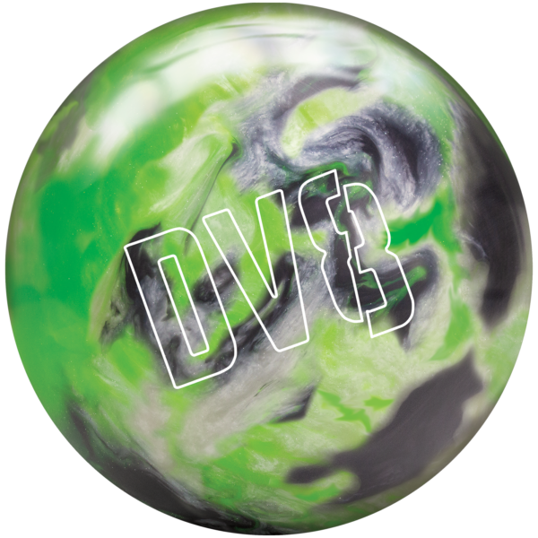 Lime Luster Spare Ball with DV8 Logo