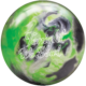 Lime Luster Spare Ball with Tonight We Bowl Logo