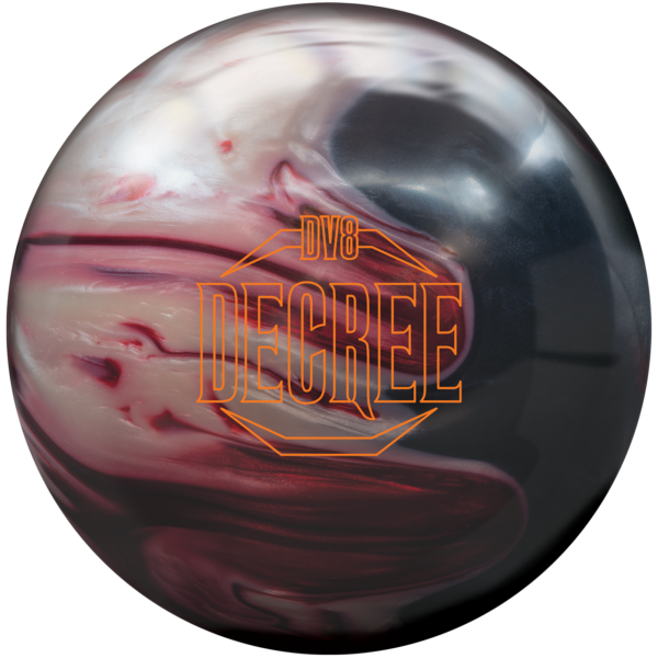 Decree Pearl Bowling Ball in Red, White, and Black
