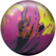 Warrant Solid Bowling Ball in Black, Magenta, and Yellow., for Warrant Solid™ (thumbnail 1)